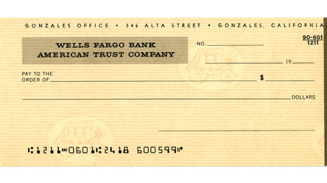 checks from wells fargo bank