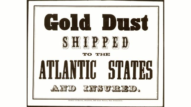 An advertisement in the 1850s, when Wells Fargo was starting to connect families and businesses from the Pacific to the Atlantic Coast. Photo Credit: Wells Fargo Corporate Archives