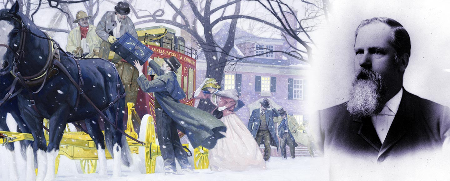 """""""Winter Journey,"""" a 2012 painting by John Rush, shows a scene similar to the one John Valentine, right, experienced."""
