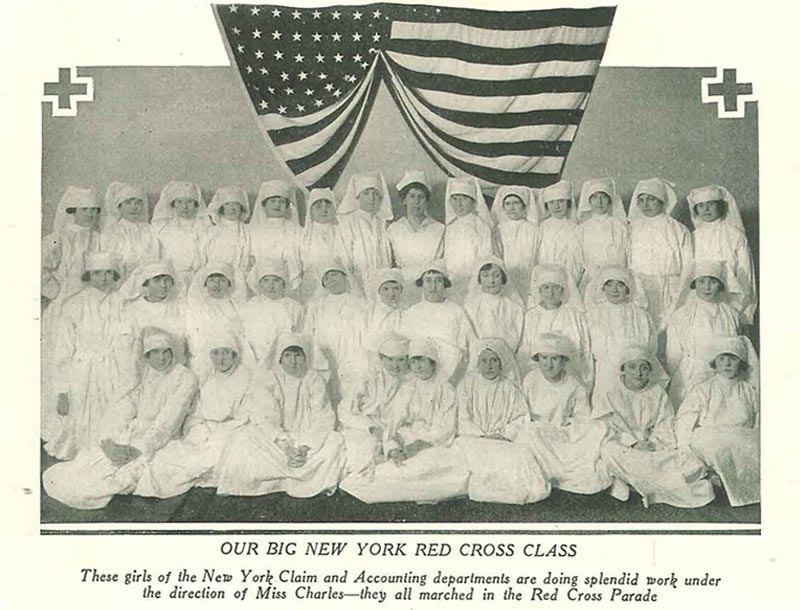 These women worked in WellsFargo's Claim and Accounting departments in New York during World War I. Photo Credit: WellsFargo Corporate Archives