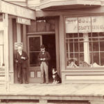A border collie co-worker at Wells Fargo's office in Fort Bragg, California, in 1904. Photo Credit: Wells Fargo Corporate Archives