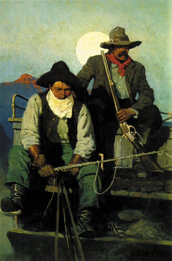 Wyeth Pay Stage 1909 Stagecoach Driver and Guard